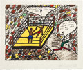 Boxing Collectibles:Autographs, 1979 Muhammad Ali Signed Oversized Print. ...