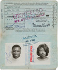 Boxing Collectibles:Memorabilia, 1968-71 Joe Frazier Used and Multi-Signed United States Passport....