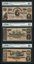 Confederate Notes:1864 Issues, Gods and Generals Book Plus Confederate 1864 Notes From the Author's Collection PMG Graded.. ... (Total: 9 items)