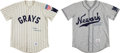 Baseball Collectibles:Uniforms, Early 1990's Ray Dandridge & Buck Leonard Signed Replica Jerseys Lot of 2....