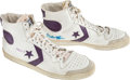 Basketball Collectibles:Others, 1983-84 Magic Johnson Game Worn, Signed Sneakers....