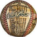 Baseball Collectibles:Balls, 1974 Hank Aaron Tops Babe Ruth Original Folk Art Baseball by GeorgeSosnak....