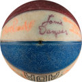 Basketball Collectibles:Balls, 1973-74 Kentucky Colonels Team Signed Mini Ball with Rare Wendell Ladner Signature. ...