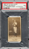 Baseball Cards:Singles (Pre-1930), 1887 N172 Old Judge Tommy McCarthy, St. Louis (#301-5) PSA NM 7 -Pop One, The Highest Graded Example! ...