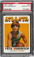 Basketball Cards:Singles (1970-1979), 1971 Topps Pete Maravich #55 PSA Gem MT 10 - Pop Five. ...