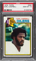 Football Cards:Singles (1970-Now), 1979 Topps Earl Campbell #390 PSA Gem Mint 10. ...