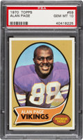 Football Cards:Singles (1970-Now), 1970 Topps Alan Page #59 PSA Gem Mint 10....