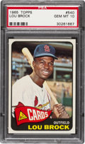 Baseball Cards:Singles (1960-1969), 1965 Topps Lou Brock #540 PSA Gem Mint 10....
