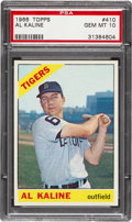 Baseball Cards:Singles (1960-1969), 1966 Topps Al Kaline #410 PSA Gem Mint 10 - Pop Two! ...