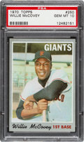 Baseball Cards:Singles (1970-Now), 1970 Topps Willie McCovey #250 PSA Gem Mint 10 - Pop Three. ...