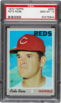 Baseball Cards:Singles (1970-Now), 1970 Topps Pete Rose #580 PSA Gem Mint 10....