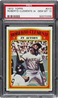 Baseball Cards:Singles (1970-Now), 1972 Topps Roberto Clemente In Action #310 PSA Gem Mint 10....