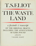 Books:Literature Pre-1900, T. S. Eliot. The Waste Land. A Facsimile and Transcriptof the Original Drafts Including the Annotations of ...