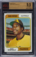 Baseball Cards:Singles (1970-Now), 1974 Topps Dave Winfield #456 BVG Gem Mint 9.5 - Pop Two! ...