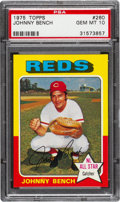 Baseball Cards:Singles (1970-Now), 1975 Topps Johnny Bench #260 PSA Gem Mint 10....