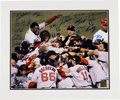 Baseball Collectibles:Photos, 2004 Boston Red Sox Team Signed Oversized Photograph....