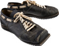 Football Collectibles:Others, 1960s Ben Agajanian Game Worn Kicking Shoes - Sourced from Family....