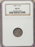 Early Half Dimes: , 1800 H10C AU55 NGC. NGC Census: (13/47). PCGS Population (28/51).Mintage: 40,000. ...