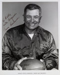 Football Collectibles:Photos, 1960's Vince Lombardi Signed Photograph....