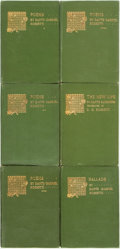 Books:Literature Pre-1900, Dante Gabriel Rossetti. Ballads [together with:] The NewLife [and:] Poems. London: Ellis an... (Total: 6 Items)