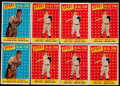 Baseball Cards:Lots, 1958 Topps Mantle and Spahn AS Collection (8)....