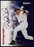 Baseball Cards:Singles (1970-Now), 2001 Fleer Legacy Autographics Derek Jeter New York Yankees. ...