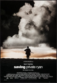 """Saving Private Ryan (Paramount, 1998). One Sheet (27"""" X 40"""") DS Cloud Style. War"""