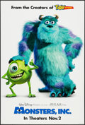 "Movie Posters:Animation, Monsters, Inc. (Buena Vista, 2001). One Sheet (27"" X 40"") DS Advance. Animation.. ..."