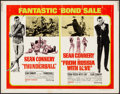 """Movie Posters:James Bond, Thunderball/From Russia with Love Combo (United Artists, 1968).Half Sheet (22"""" X 28""""). James Bond.. ..."""