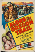 "Movie Posters:Western, Along the Oregon Trail (Republic, 1947). One Sheet (27"" X 41""). Western.. ..."