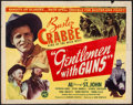 "Movie Posters:Western, Gentlemen with Guns (PRC, 1946). Half Sheet (22"" X 28""). Western.. ..."