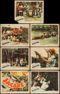"Movie Posters:Documentary, Jacaré, Killer of the Amazon (United Artists, 1942). Title Lobby Card and Lobby Cards (6) (11"" X 14""). Documentary.. ... (Total: 7 Items)"