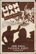 "Movie Posters:Adventure, The Lion Man (Normandy, R-Late 1930s). One Sheet (27"" X 41"").Adventure.. ..."