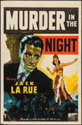"""Movie Posters:Crime, Murder in the Night (Associated British Film Distributors, 1939).One Sheet (27"""" X 41""""). Crime.. ..."""