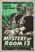 """Movie Posters:Mystery, Mystery of Room 13 (Film Alliance, 1938). One Sheet (27"""" X 41"""").Mystery.. ..."""