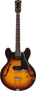 Musical Instruments:Electric Guitars, 1960 Gibson ES-330 Sunburst Semi-Hollow Body Electric Guitar,Serial # R 499714....