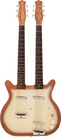 Musical Instruments:Electric Guitars, 1958 Danelectro Model 3923 Doubleneck CopperBurst Solid BodyElectric Guitar....