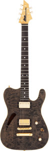 Musical Instruments:Electric Guitars, 1980's DeMarino Custom Grey Solid Body Electric Guitar, Serial #96114....
