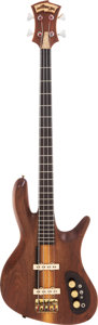 Musical Instruments:Bass Guitars, 1980 Carl Thompson Natural Electric Bass Guitar....