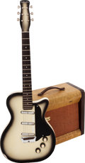 Musical Instruments:Electric Guitars, 1958 Silvertone Model 1305 CremeBurst Solid Body Electric Guitarand Model 1331 Guitar Amplifier.... (Total: 2 Items)