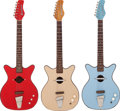 Musical Instruments:Electric Guitars, 1962 Danelectro Convertible Red, Blonde and Blue Acoustic ElectricGuitar lot of 3.... (Total: 3 Items)