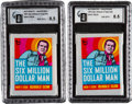 "Non-Sport Cards:Unopened Packs/Display Boxes, 1974 Topps Test ""Six Million Dollar Man"" High-Grade Unopened PacksPair. ..."