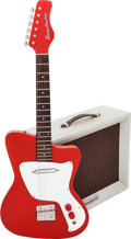Musical Instruments:Electric Guitars, Circa 1968 Danelectro Hawk Red Solid Body Electric Guitar andCorporal Amplifier.... (Total: 2 Items)