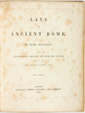 Books:World History, [Ancient Rome]. Lord Macaulay. George Scharf, illustrator. Lays of Ancient Rome. London: Longman, Green, Longman, an...