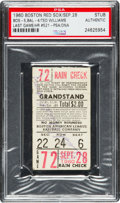 Baseball Collectibles:Tickets, 1960 Ted Williams Final Game & Home Run Ticket Stub--Only KnownSigned Example....