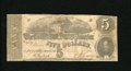 Confederate Notes:1862 Issues, T53 $5 1862. Light soiling is noticed on this $5. Fine...