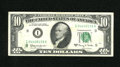 Error Notes:Ink Smears, Fr. 2017-I $10 1963A Federal Reserve Note. Very Fine.. Some extraink has been left on the back of this early Green Seal....