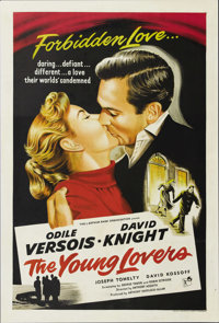"""The Young Lovers (Pacemaker Pictures Inc., 1954). One Sheet (27"""" X 41""""). David Knight works as a code expert a..."""