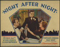 "Night After Night (Paramount, 1932). Lobby Cards (2) (11"" X 14""). George Raft hires Alison Skipworth to help h..."