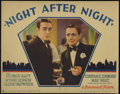 """Movie Posters:Drama, Night After Night (Paramount, 1932). Lobby Cards (2) (11"""" X 14""""). George Raft becomes enamored with a recurring guest (Const... (Total: 2 Items)"""
